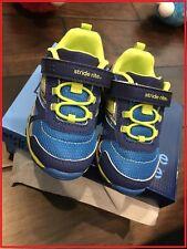 Striderite Boys Non-Tie Sneakers Blue / Lime Little Boys  Size 6 1/2 M