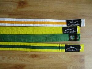 Taekwondo Belt job lot Childs Uniform Yellow white green