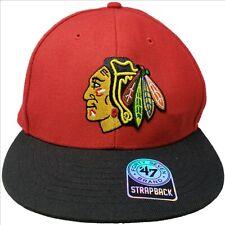 CHICAGO BLACKHAWKS NHL Captain Red Snapback Hockey Ball Cap 47 Brand NEW