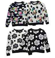 Kids Girls Sweat Shirt  Jumper Children Fleece Gypsy Top Hood Sweater Age 3-12