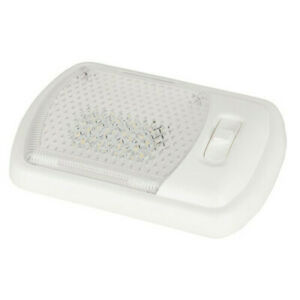 High Quality Bright Lamp Interior 12xWhite LED Roof Mount w/ Switch 12VDC