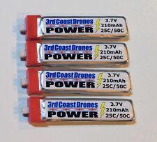 4 Pack Batteries for Tiny Whoop, Inductrix, Nano QX, Inductrix FPV, Nano QX FPV