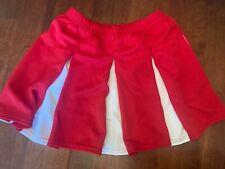Augusta Red and White Cheerleading Skirt