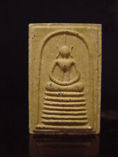 ANTIQUE CLAY THAI AMULET BUDDHA TALISMAN - PHRA SOMDEJ, LP WITHOON. Cira:1900's