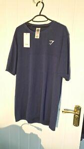 Gymshark electric blue t shirt - large