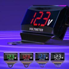 Motorcycle Car Voltage Gauge Digital Display Voltmeter Volt Panel Meter LED 12V