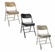 2-inch Vinyl Padded Folding Chairs - Box of 2 - Black, Beige, Grey