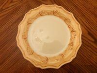 """New PIER 1 Ceramic GEMMA BAROQUE HONEY 8 7/8"""" Salad Plate Made in Italy"""