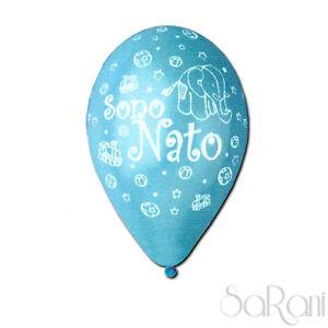 Palloncini Festa Sono Nato 20 pz Palloni Celeste Bimbo Party Decorazioni 30 cm