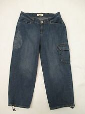 9683b070 Womens Size 4 As Real As Wrangler Capri Cargo Blue Jeans Cropped Measure  27x22.5