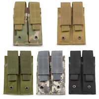 Nylon Tactical Molle Dual Double Pistol 9mm Mag Magazine Pouch Close Holster USA