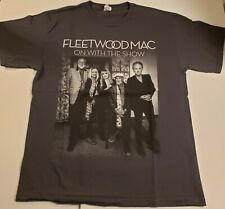 Fleetwood Mac On With The Show 2014-2015 Concert Tour Shirt Gray Size Large