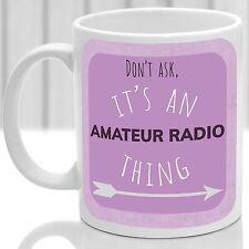 Radio amatoriale cosa Tazza, ideale per qualsiasi amante dei radio amatoriale (Rosa)