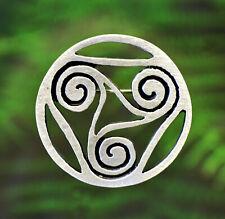 in Fine Pewter by Treasure Cast Celtic Spiral Pin | Celtic Symbols