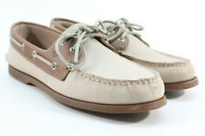 Sperry Top-Sider A/O 2-Eye Men's Sarape Off White/Camel Boat Shoe Preowned