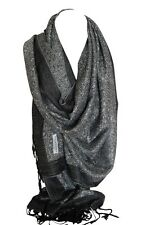Intricately Woven Two Sided Reversible Paisley Floral Print Pashmina Feel Scarf