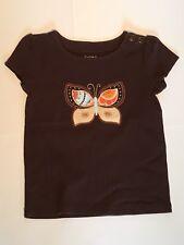 GAP KIDS Brown Orange Multi Butterfly Shirt TOP Size M Medium 8 NWOT