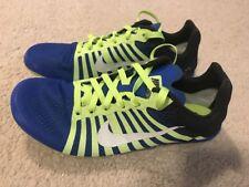 wholesale dealer cd852 e407d NWOB Nike Zoom D Distance Piste à Piques Homme 12.5 Bleu Vert