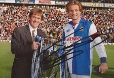 Blackburn: Tim Sherwood firmado 6x4 Premier League Trophy Foto + certificado De Autenticidad