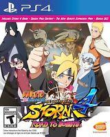 Naruto Shippuden: Ultimate Ninja Storm 4 -- Road to Boruto (PlayStation 4) NEW