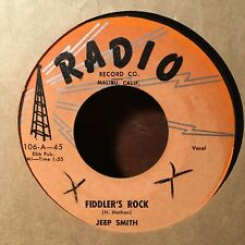 Jeep Smith - Fiddler's Rock / Chemise 7 inch 45 Radio Record 1958 Rock and Roll