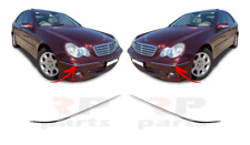 FOR MERCEDES-BENZ C-CLASS W203 00 - 07 FRONT BUMPER OUTER CHROME PAIR SET