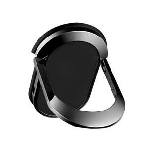 2 x Black Mobile Phone Finger Ring Holder Magnetic 360°Rotation Ring Bracket