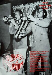 BLUES AND RHYTHM - U.K. MAGAZINE - OCTOBER, 1993 - 43 PAGES - FRANK MOTLEY COVER