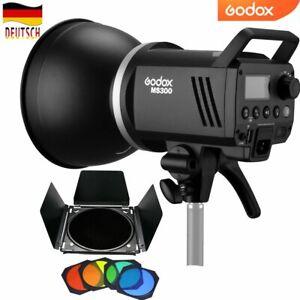 DE Godox 2.4G MS300 300WS Studio Blitzkopf Blitz Licht Mit BD-04 Scheunentor