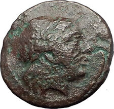 MYRINA in AEOLIS 2-1cBC Authentic Ancient Greek Coin APOLLO AMPHORA LYRE i63137