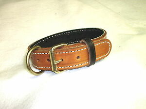 2 IN LEATHER COLLAR SCHUTZHUND POLICE K9 CUSTOM MADE SIZE COLOR ETC ............