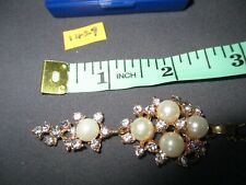 necklace,stones & pearls, gold coloured chain, in a box  [ 1429 ]