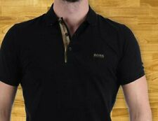 HUGO BOSS T shirt Polo Black , With Small Logo Cotton New Mens Authentic