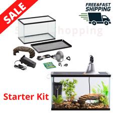 New listing 10-Gallon Turtle Aquatic Reptile Habitat Starter Kit Fish Tank Light Filter New