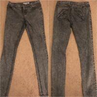 HOT TOPIC Jet Black/Gray Skinny Jeans