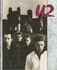 U2 1984-1985 Unforgettable Fire Usa Tour Concert Program Tour Book red