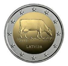 LETONIA  2 euro 2016 VACA PARDA Sector agrario Letón Latvia  Lettland  Latvijas