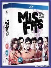 MISFITS - COMPLETE SERIES 1 2 & 3 **BRAND NEW AND SEALED BLU-RAY*