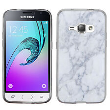 TPU Phone Case for Samsung Galaxy J1 (2016) / Express 3 / AMP 2 - Marble/Cream