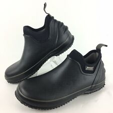 BOGS Black Urban Farmer Rubber Lightweight Slip On Work Shoes Men 7 Euro 40