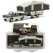 GREENLIGHT 32100 B 1970 Ford F-100 w/ Pop-Up Camper Trailer Diecast 1:64 Presale