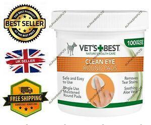 Vet's Eye Cleaning Pads Dogs Pack of 100 FAST&FREE UK Stock