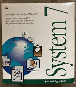 Extremely Rare! (30th Anniv) Mac System 7 Complete-12 Disks& All Books-M8220LL/A