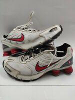 Nike Shox Turbo + VI Running Shoes Men's 10 318161-161 RARE White/Red