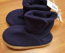 NWT Old Navy Toddler Boys 9-10 Quilted Jersey Bootie Slippers NAVY BLUE #20420