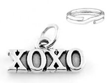 """STERLING SILVER """"XOXO"""" CHARM WITH SPLIT RING"""