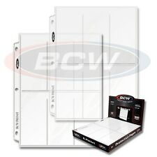 100 sheets 6 pocket BCW Pro Pages 2 1/2 X 5 1/2 Binder Card with Ultra Storage
