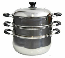 28cm Stainless Steel  2 Tier Steamer Steam pot Cookware for Lobster,Fish