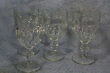 "Libbey Gibraltar Duratuff Clear Water Goblet 6 3/4"" Lot of 4 Glasses"