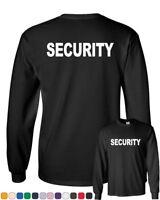 Security Long Sleeve T-Shirt Bouncer Police Event Staff Uniform Guard Tee